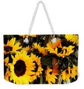 Sunflowers In Blue Bowls Weekender Tote Bag