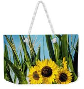 Sunflowers In The Corn Field Weekender Tote Bag