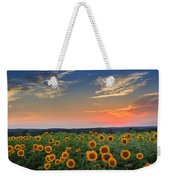 Sunflowers In The Evening Weekender Tote Bag by Bill Wakeley