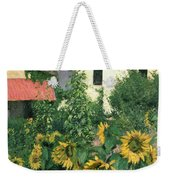 Sunflowers In The Garden At Petit Gennevilliers  Weekender Tote Bag