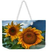 Sunflowers In The Wind Weekender Tote Bag