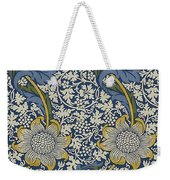Sunflowers On Blue Pattern Weekender Tote Bag