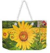 Sunflowers - Red Barn - Pennsylvania Weekender Tote Bag