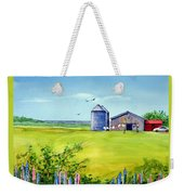 Sunkissed And Windblown Lupines And Laundry In Pei Weekender Tote Bag