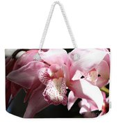 Sunlight On Pink Orchid Weekender Tote Bag