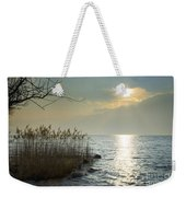 Sunlight On The Lake With Pampas Grass Weekender Tote Bag