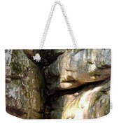 Sunlit Boulder On Shades Mountain Weekender Tote Bag