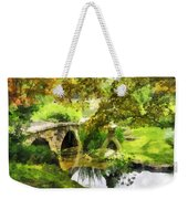 Sunlit Bridge In Park Weekender Tote Bag