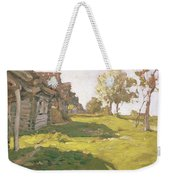 Sunlit Day  A Small Village Weekender Tote Bag