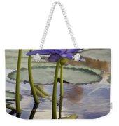 Sunlit Purple Lilies  Weekender Tote Bag