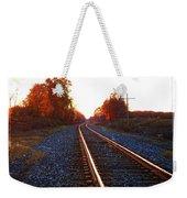 Sunlit Tracks Weekender Tote Bag