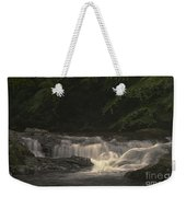 Early Morning Sunlit Waterfall Weekender Tote Bag