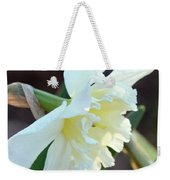 Sunlit White Daffodil Weekender Tote Bag