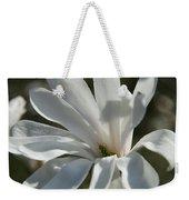 Sunlit White Magnolia Weekender Tote Bag