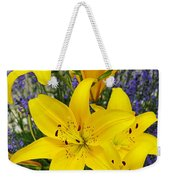 Sunny Asiatics With Lavender Weekender Tote Bag