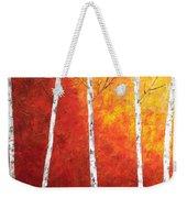 Sunset Birches Weekender Tote Bag