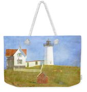 Sunny Day At Nubble Lighthouse Weekender Tote Bag by Carol Leigh