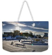 Sunny In The Snow Weekender Tote Bag