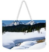 Sunny January Day Sawtooth Mountains Weekender Tote Bag