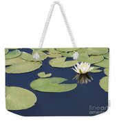 Sunny Lily Pond Weekender Tote Bag