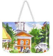 Sunny Morning On The City Square Weekender Tote Bag