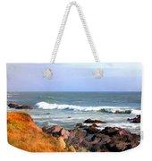 Sunny Ocean Shoreline Weekender Tote Bag
