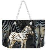 Sunny Zebra Weekender Tote Bag