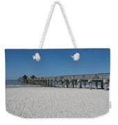 Sunny Day At Naples Pier Weekender Tote Bag