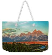 Sunrise At Grand Tetons Weekender Tote Bag
