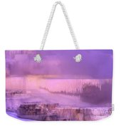 Sunrise At Minerva Springs Yellowstone National Park Weekender Tote Bag
