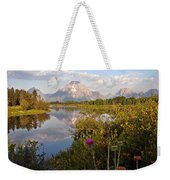 Sunrise At Oxbow Bend 5 Weekender Tote Bag by Marty Koch