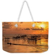 Sunrise At The Fishing Village Weekender Tote Bag