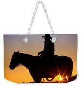 Sunrise Cowboy Weekender Tote Bag