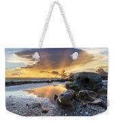 Sunrise Explosion Weekender Tote Bag by Debra and Dave Vanderlaan