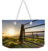 Sunrise  Gate Weekender Tote Bag by Debra and Dave Vanderlaan