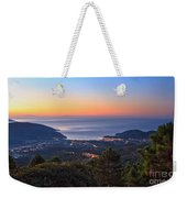 sunrise in Elba island Weekender Tote Bag