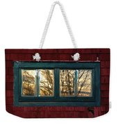 Sunrise In Old Barn Window Weekender Tote Bag
