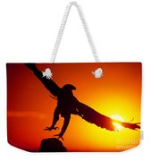 Sunrise Liftoff Golden Eagle Threatened Species Weekender Tote Bag