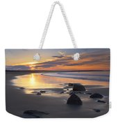 Sunrise On A Beach Near The Port Weekender Tote Bag