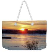 Sunrise On A Cold Frozen Niagara River Weekender Tote Bag