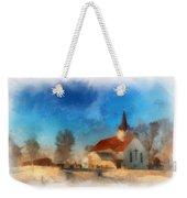 Sunrise On A Rural Church 03 Weekender Tote Bag
