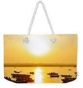 Sunrise On Ganges Weekender Tote Bag