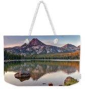 Sunrise On Gunsight Mountain Weekender Tote Bag by Robert Bales