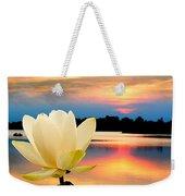 Sunrise On Lotus Lillie Weekender Tote Bag