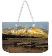 Sunrise On Sawtooth Mountains Idaho Weekender Tote Bag
