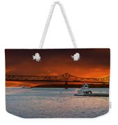 Sunrise On The Illinois River Weekender Tote Bag