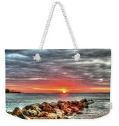 Sunrise Over Breech Inlet On Sullivan's Island Sc Weekender Tote Bag