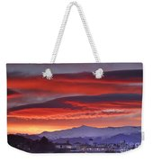 Sunrise Over Granada And The Alhambra Castle Weekender Tote Bag