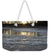 Sunrise Over Ice Weekender Tote Bag
