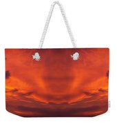 Sunrise Over Jackson Michigan Mirror Image Weekender Tote Bag